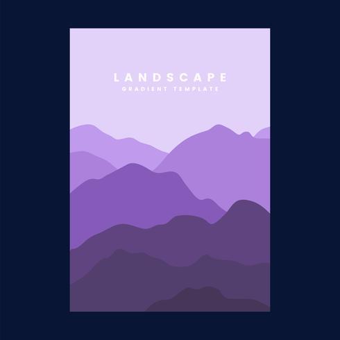 Modèle d'affiche dégradé paysage coloré