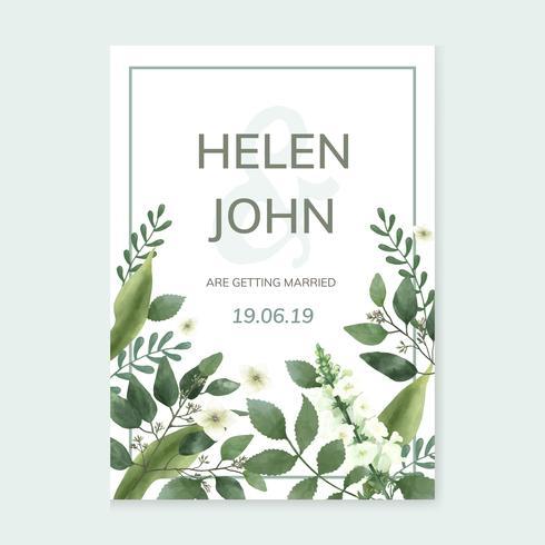 Inbjudningskort med ett grönt tema