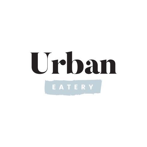 Simple urban eatery logo vector