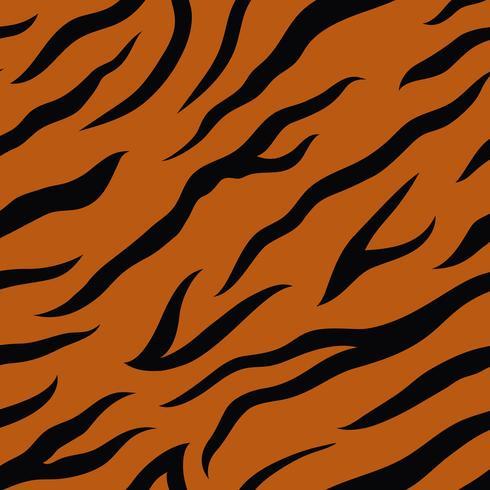 Modèle vectorielle continue de rayures tigre