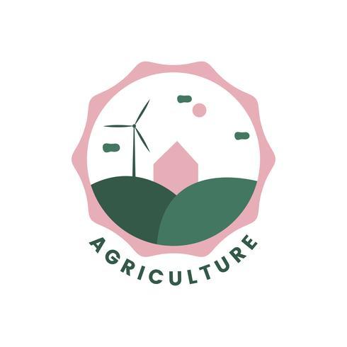 Landbouw en landbouw pictogram vector
