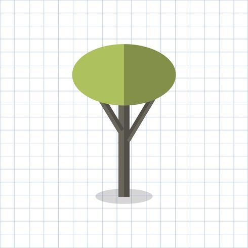 Ilustración de un árbol con forma geométrica