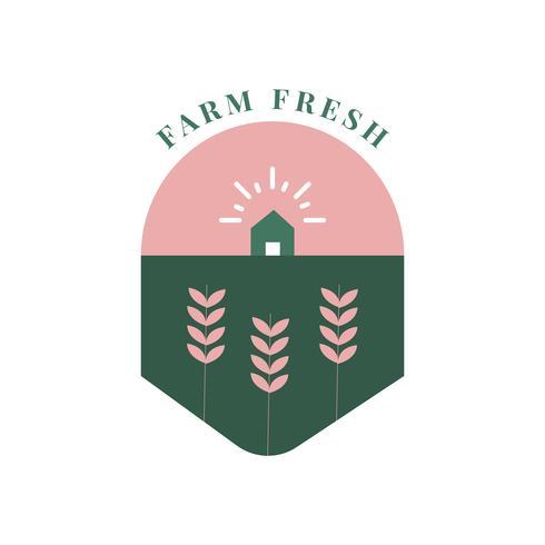 Icône frais et biologique de la ferme