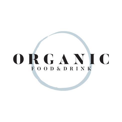 Vector de alimentos y bebidas orgánicas logo