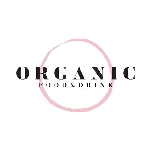 Ekologisk mat och dryck logotyp vektor