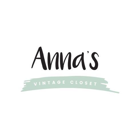 Annas Vintage Schrank Logo-Vektor
