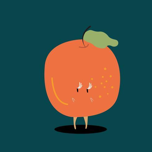 Fresh orange cartoon character vector