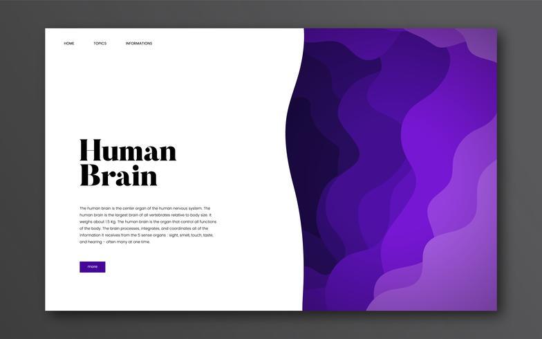 Graphique de site Web informatif sur le cerveau humain