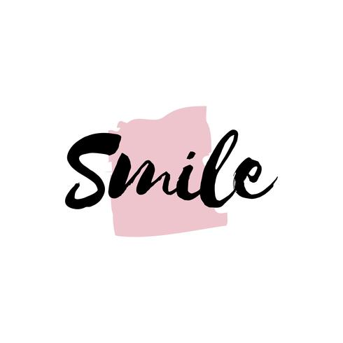 Lächeln Typografie oder Logo Vektor
