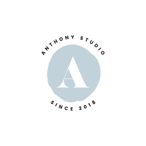 Anthony studio logo design vektor