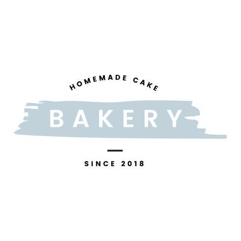 Panadería con tortas caseras logo vector