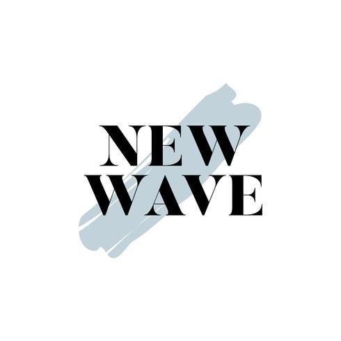 Ny våg typografi logotyp vektor
