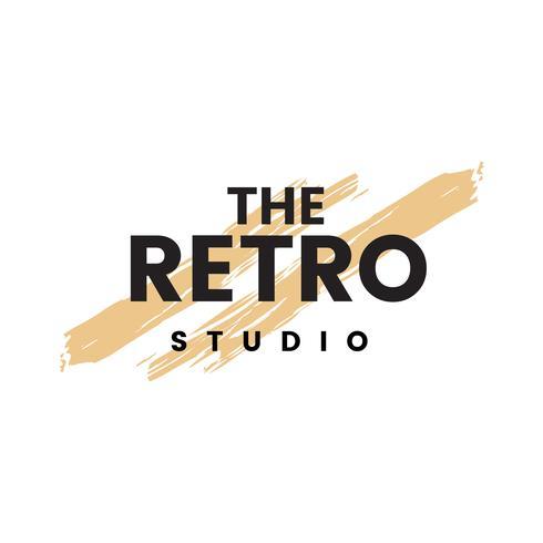 Retro studio logo vektor
