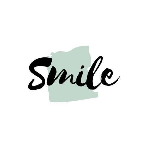 Vector de tipografía o logo de sonrisa