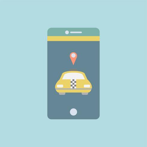 Graphique de l'application de transport sur le téléphone mobile