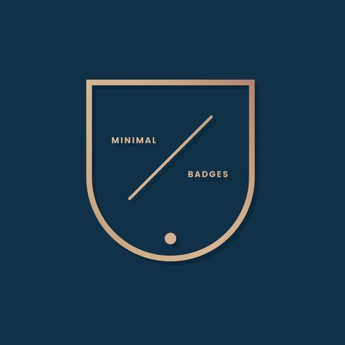 Badge minimal simple