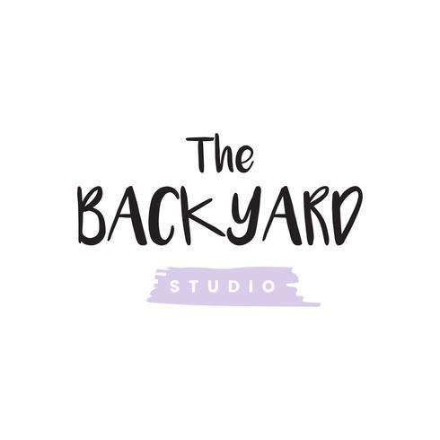 El vector de logotipo de estudio de patio trasero