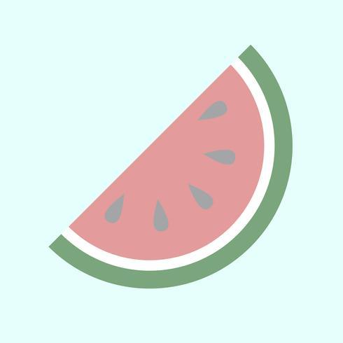 Ilustração de uma fatia de melancia