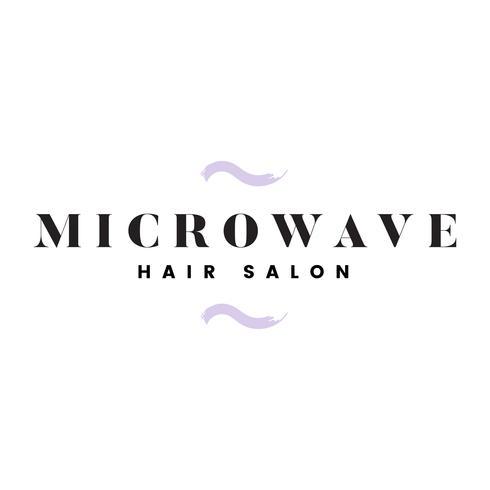 Microwave hair salon logo vector