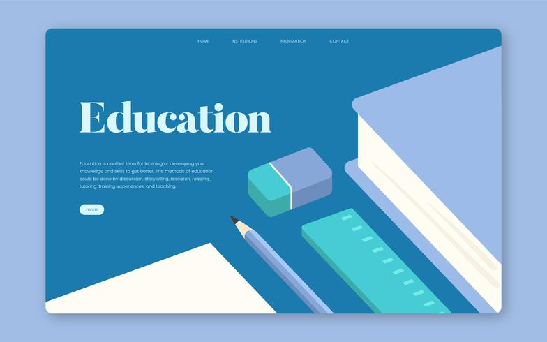 Bildung und Lernen informativer Website-Grafik