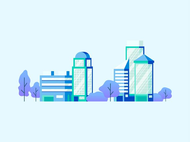 High-Tech-Bürogebäude Vektor