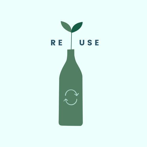 Pictogram voor hergebruik en recyclen verminderen