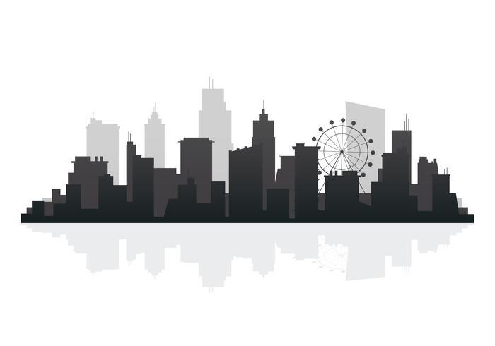 Silhuett skyline illustration