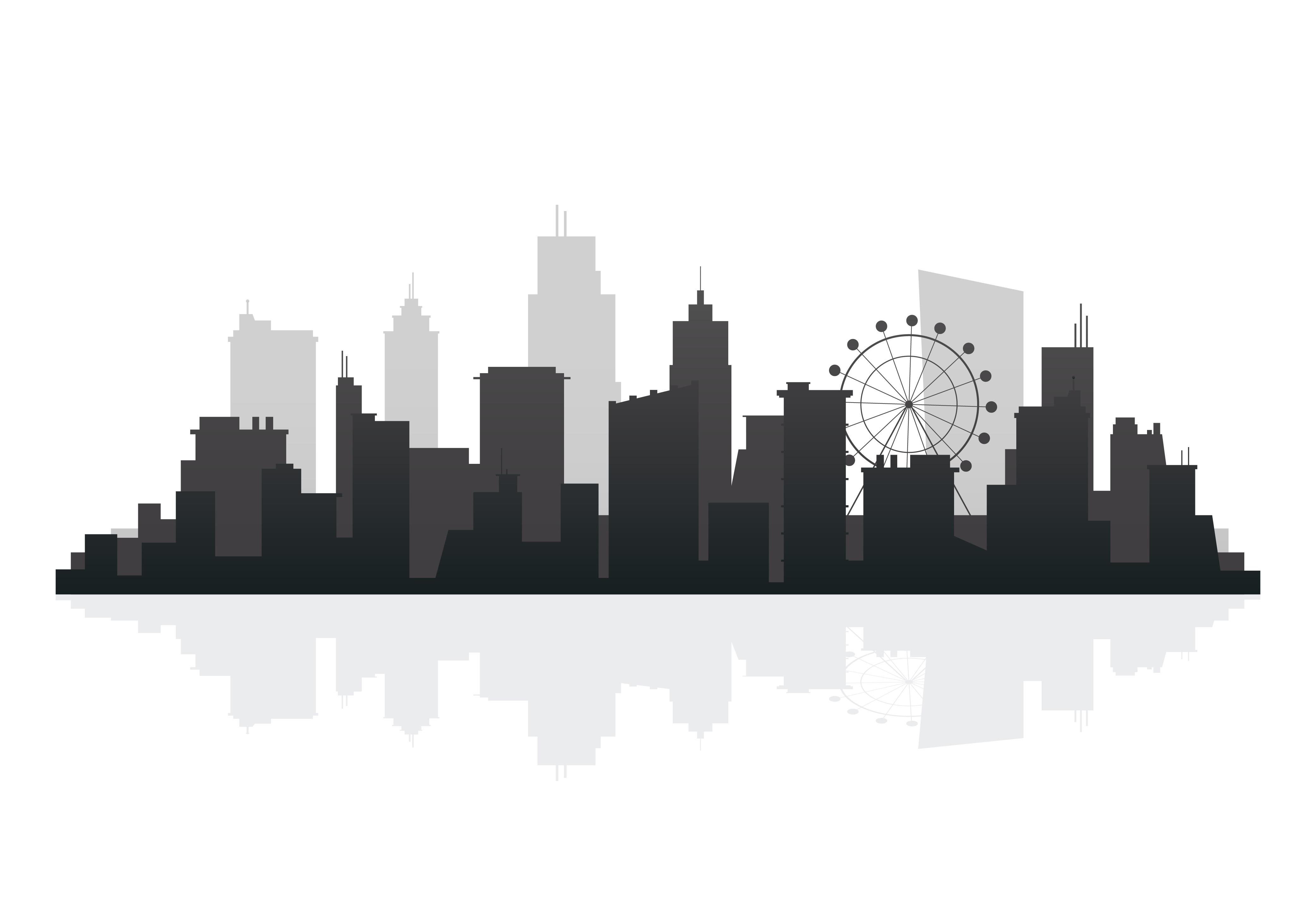 Silhouette Skyline Illustration Download Free Vector Art