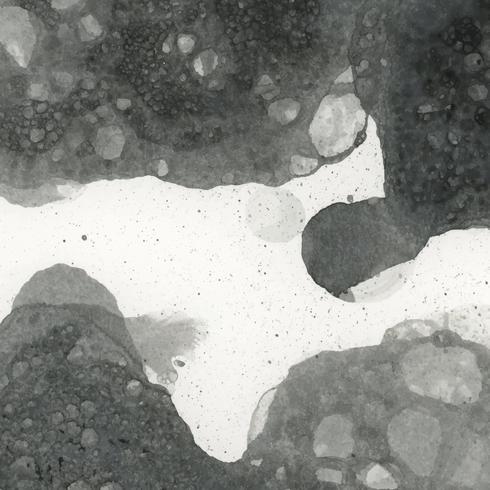 Besprühter Schwarzweiss-Tintentapetenvektor