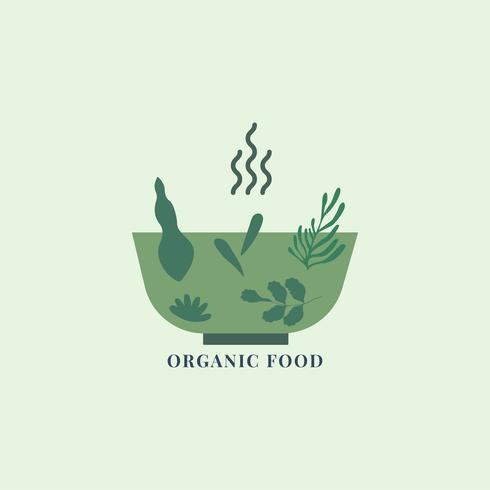 Bio und gesunde Lebensmittel-Symbol