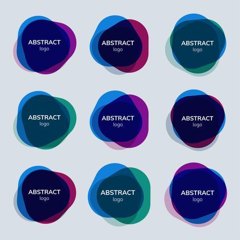 Set abstrakte Ausweisdesigne