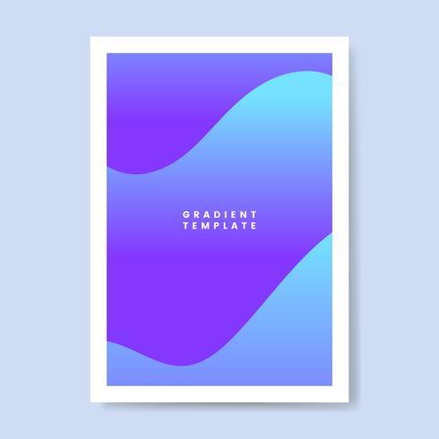 Disegno del modello gradiente onda colorata