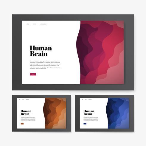 Grafica del sito Web informativo cervello umano