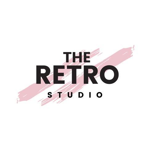 Le vecteur de logo studio rétro