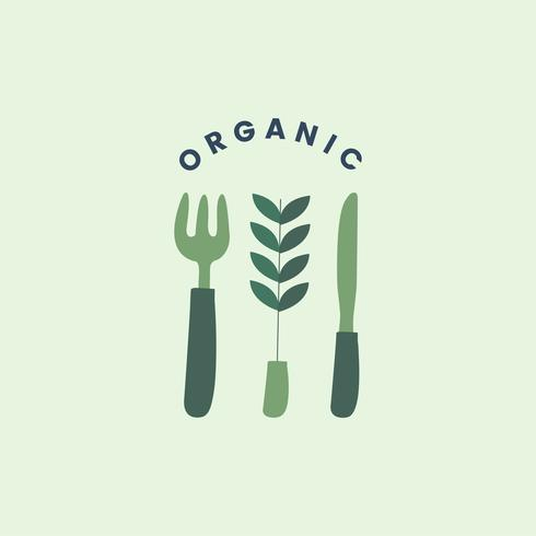 Organic and healthy food icon