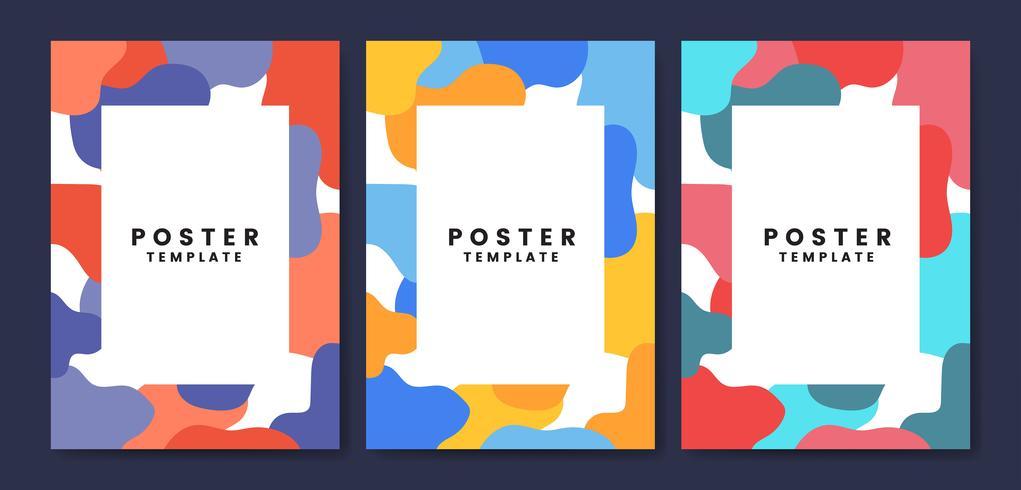 Modello di poster fresco e colorato
