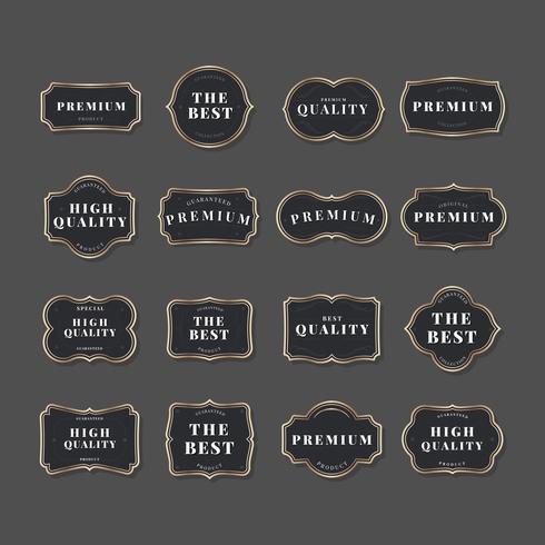Vintage label collection