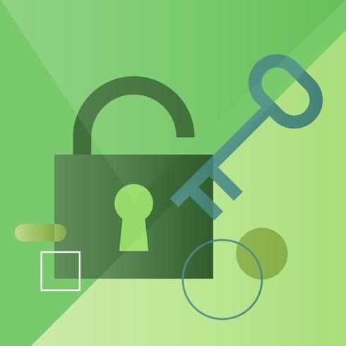 Illustration of security lock
