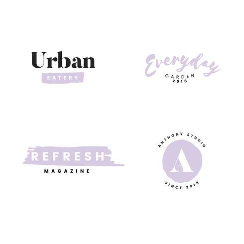 Sammlung von Logos und Branding-Vektor