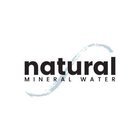 Vector logo de agua mineral natural