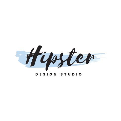 Hipster design studio logo vector