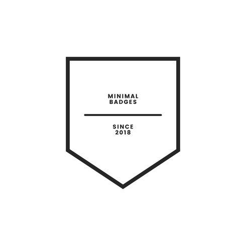 Distintivo e logo di stile minimale