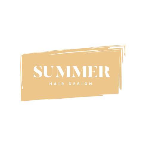 Vector de diseño de cabello de verano logo