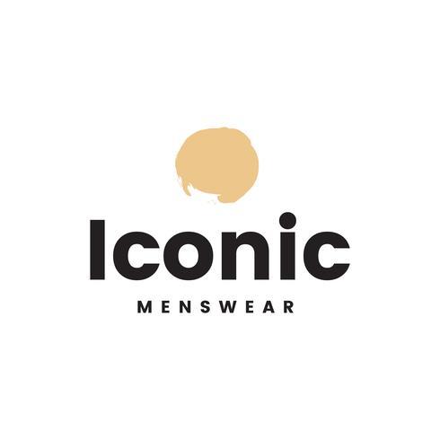 Iconische herenkleding logo ontwerp vector