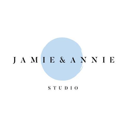 Jamie och Annie studio logo vektor