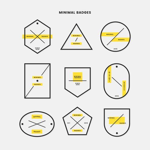 Jeu de badges minimal