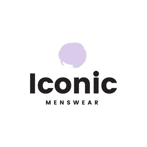 Ikonischer Menswear-Logo-Designvektor