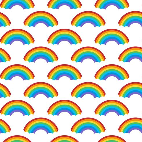 Seamless rainbow patterns design vector