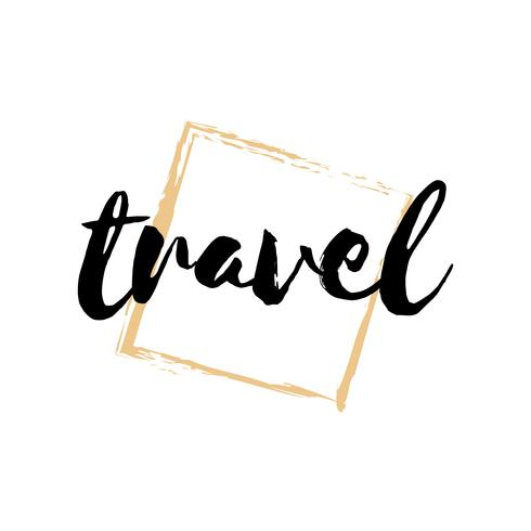Travel typography or logo vector