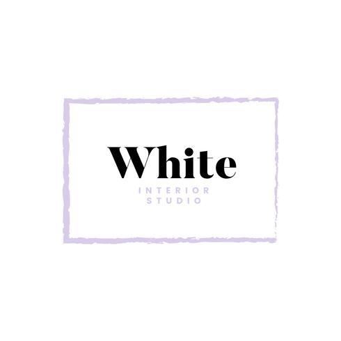 White interior studio logo design